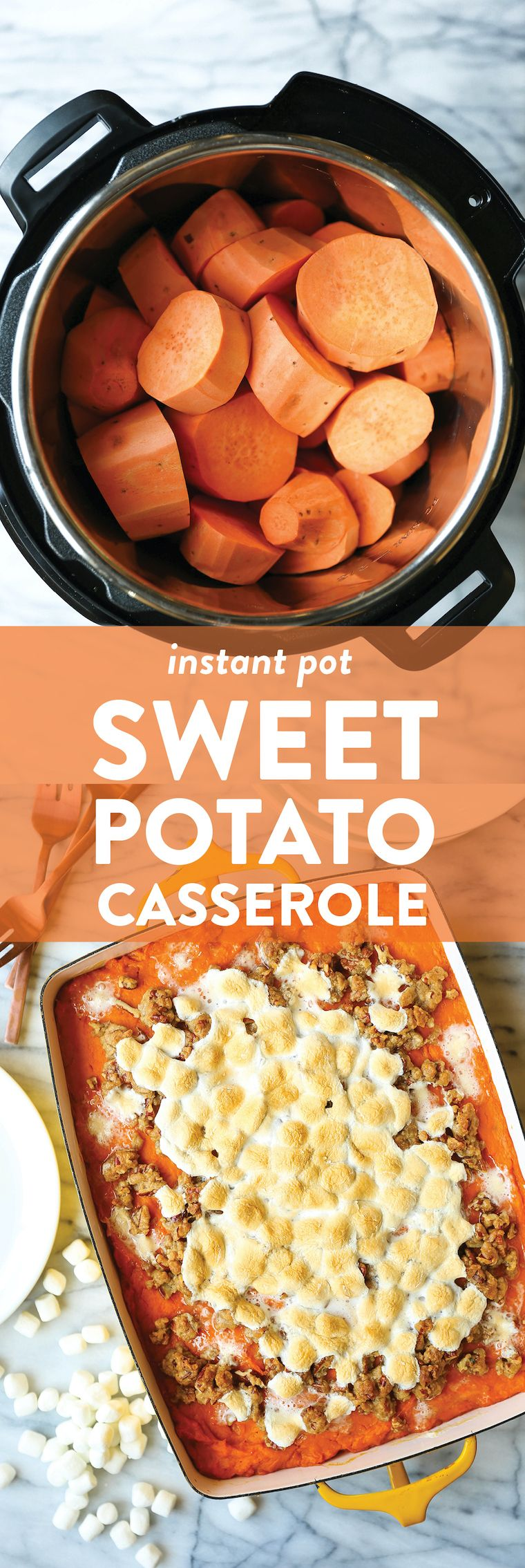Instant Pot Sweet Potato Casserole Recipe | Damn Delicious