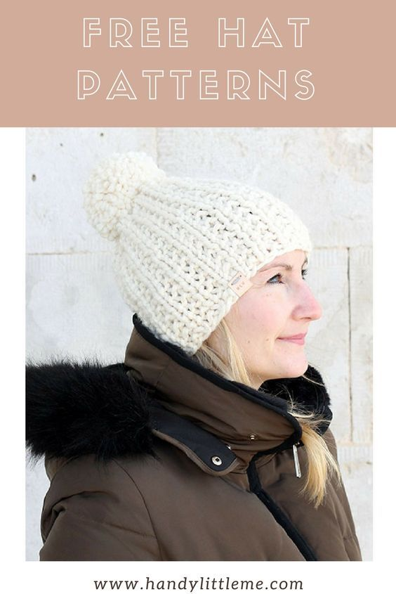 List Of Pinterest Patterns Free Knitting Hat Lion Brand Pictures