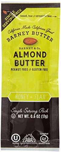 Barney Almond Butter Honey And Flax Snack Packs 0 6 Ounce Packs Of 24 Almond Butter Almond Butter Snacks Nutrition Recipes
