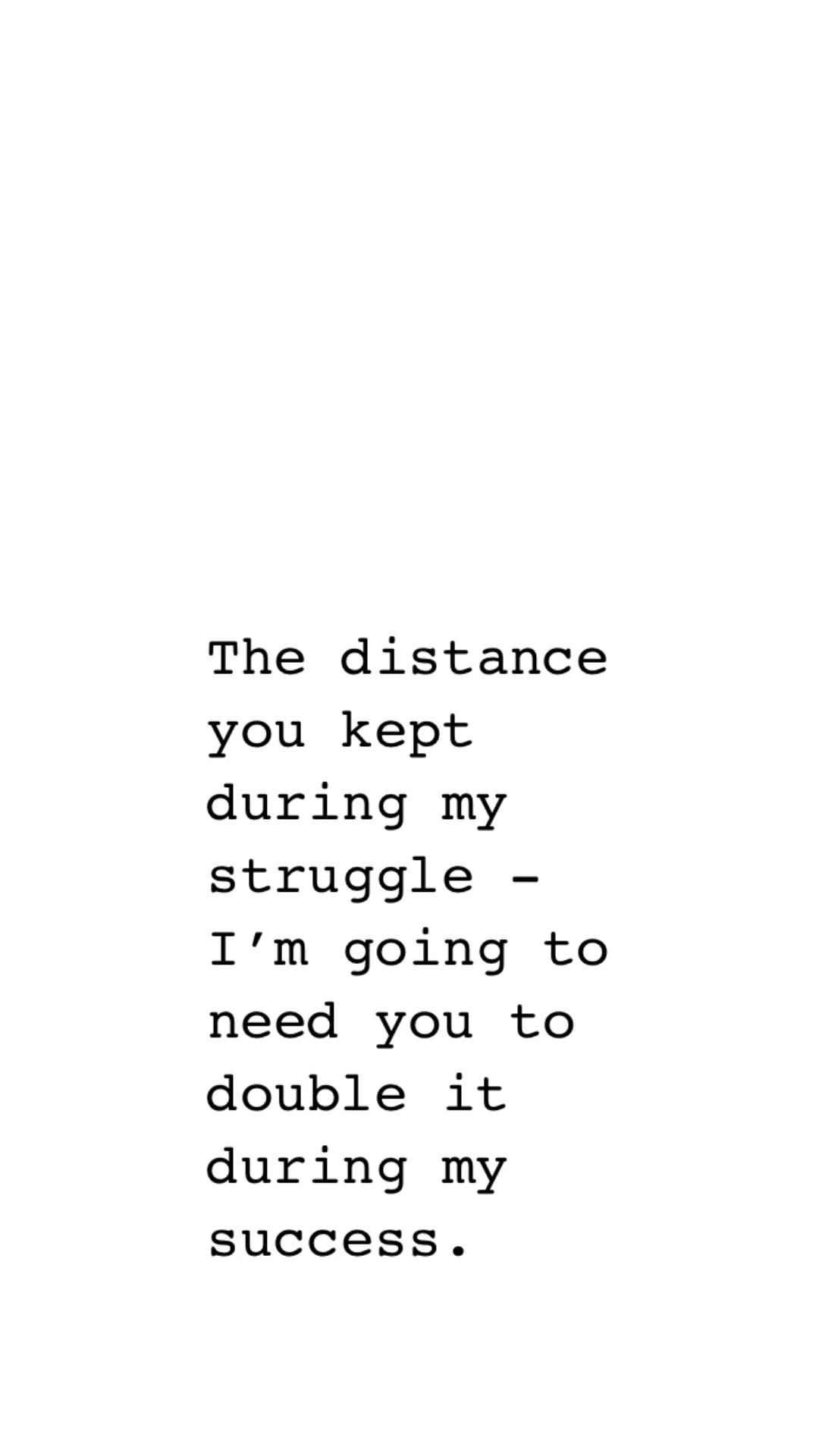 Please keep your distance.