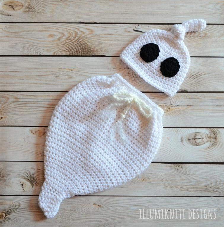 Ghost Swaddle Sack and Hat Set - Costume | Costume patterns ...