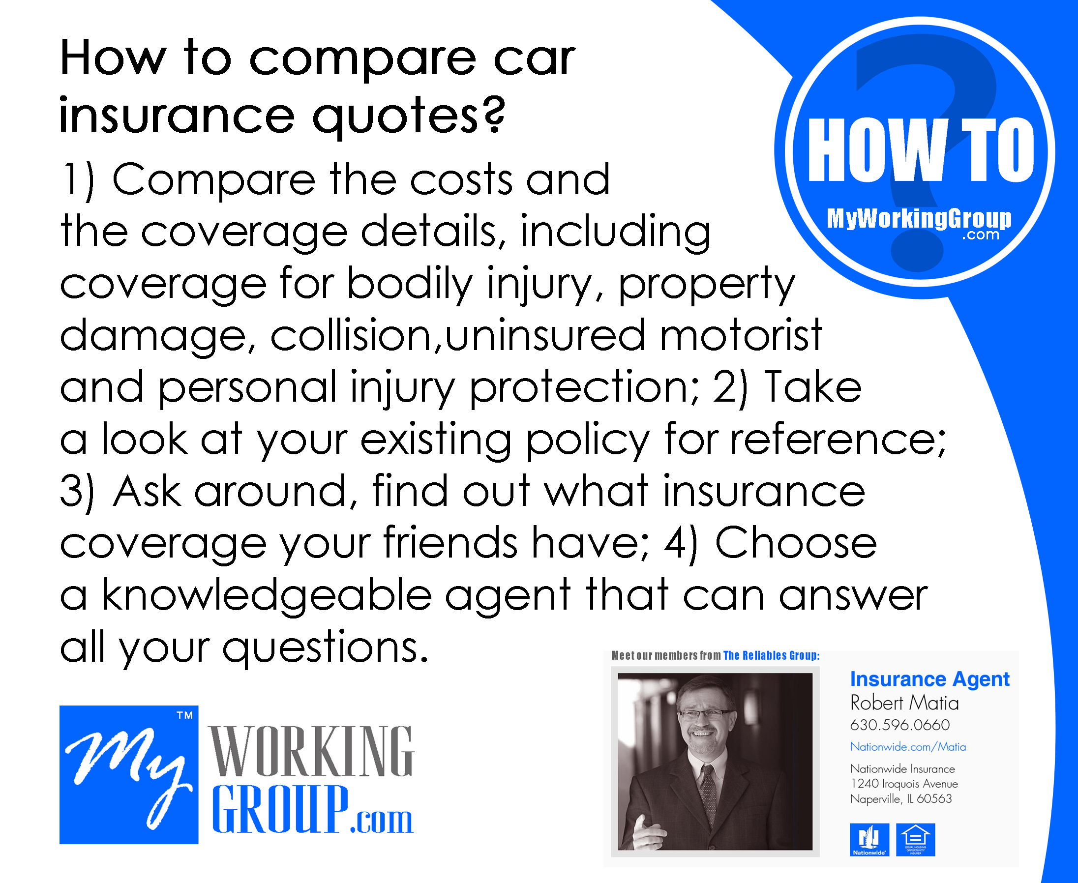How to compare car insurance quotes? 1) Compare the costs