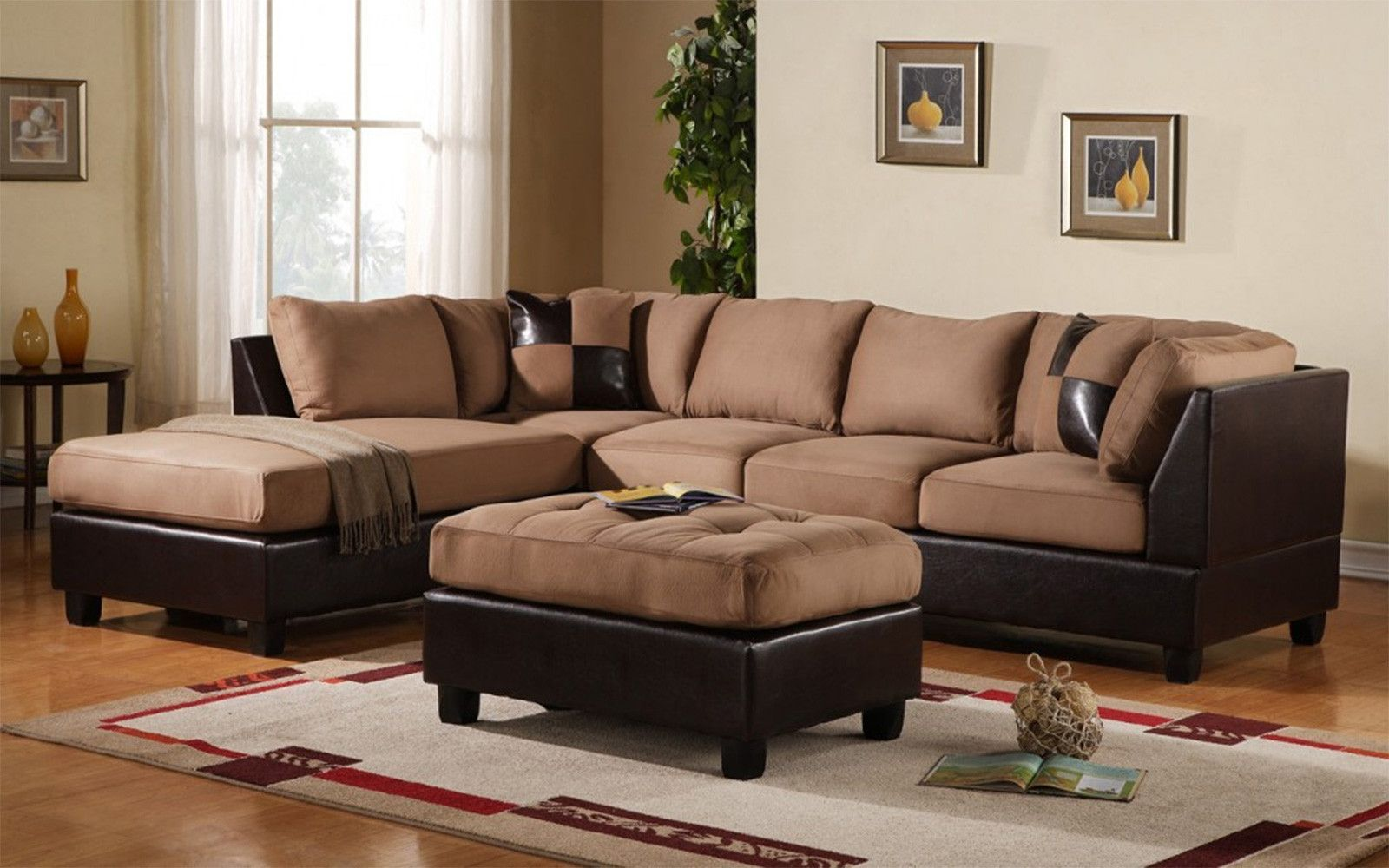 Excellent Koko Microfiber Bonded Leather Sectional Products Gmtry Best Dining Table And Chair Ideas Images Gmtryco