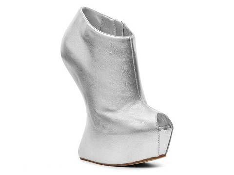 Boots Women Giuseppe Zanotti Metallic Sculpted Bootie Silver Fashion