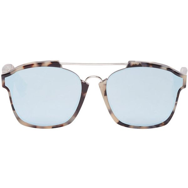 14c9f284692e Dior Tortoiseshell Abstract Sunglasses ($415) ❤ liked on Polyvore featuring  accessories, eyewear, sunglasses, flat-top sunglasses, tortoise shell ...