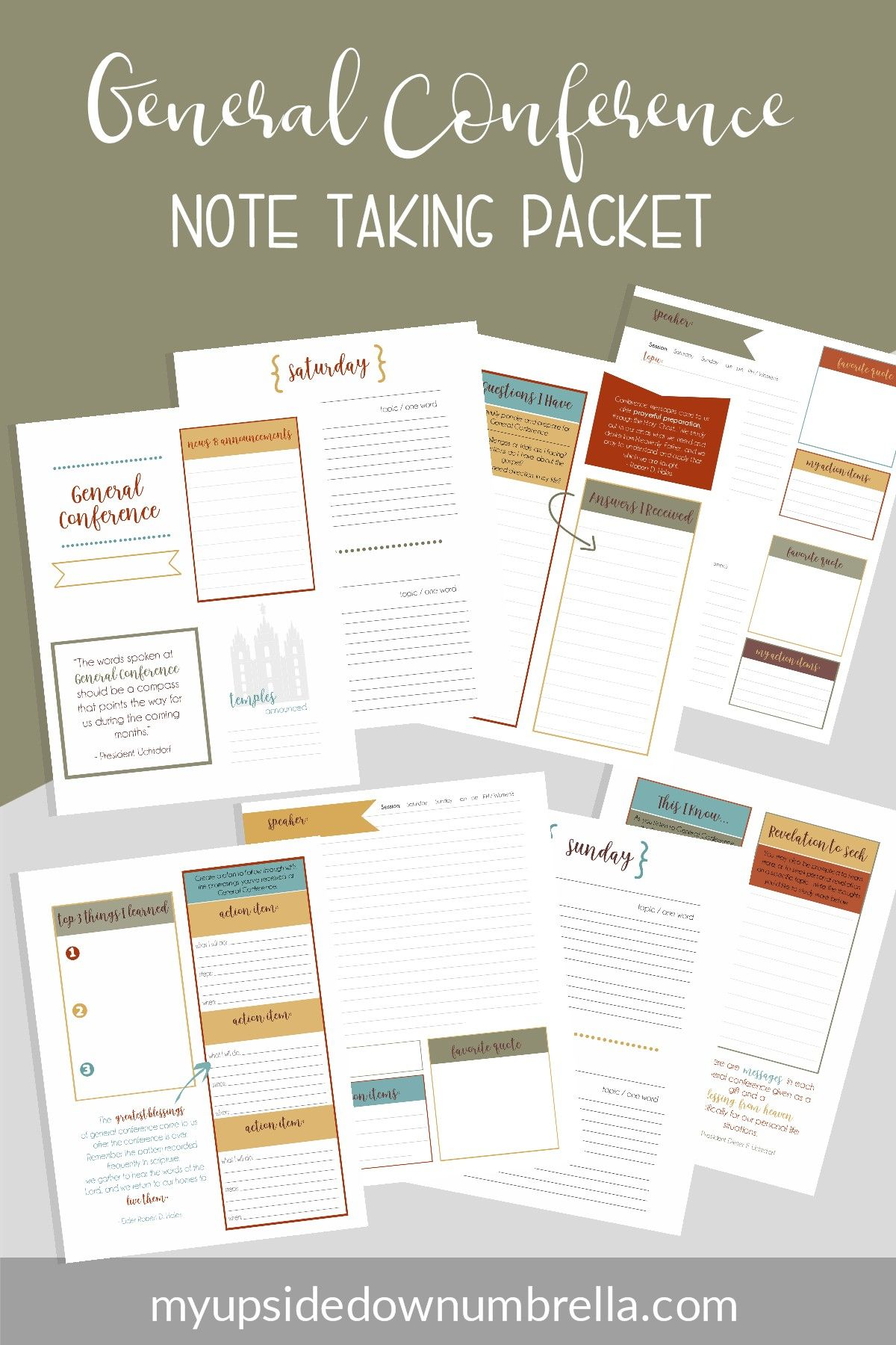 general conference journal   conference notebook and