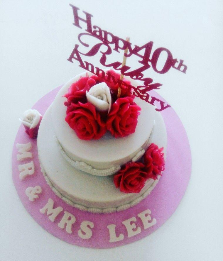 Wedding Ruby Anniversary Jelly Cake Jelly Cake Cake Jelly