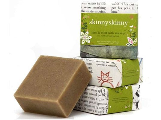 go for natural locally hand-made soaps with little packaging