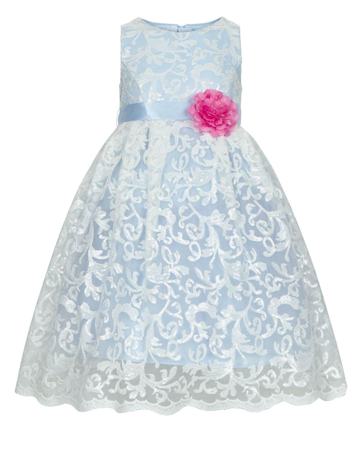2a5550809708 Aoife Kleid | Blau | Monsoon | blumenmädchen | Free clothes, Dresses ...