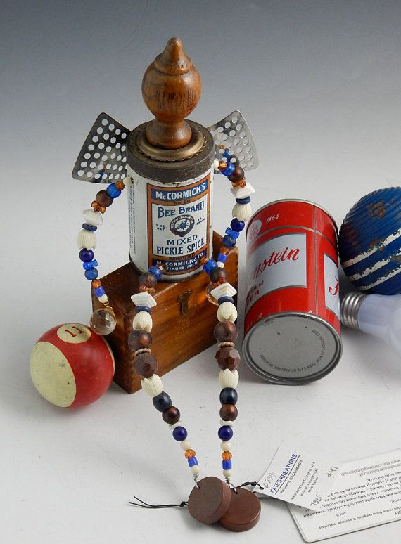 "OOAK Folk Art Recycled, Upcycled Junk Fairy, ""McCormick"" | krodenbach"