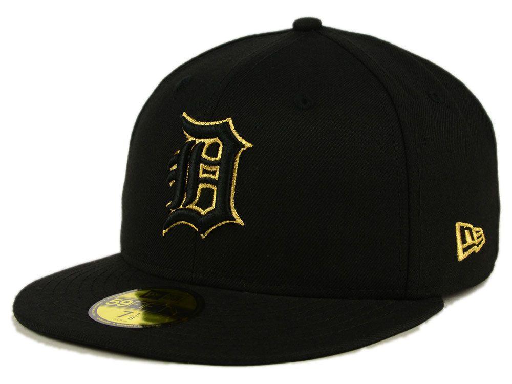 best loved 425a3 1c844 Detroit Tigers New Era MLB Black On Metallic Gold 59FIFTY Cap