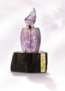 Haute Italian Perfume House Xerjoff presents the worlds most refined Iris Perfume, Iriss. Harrods of London currently has one of the limited edition bottles from the 17/17 Quartz Collection. Hand-crafted from a single piece of Amethyst Quartz, this exquisite bottle is unique and avaiable for a cool 32,000.00 euros!