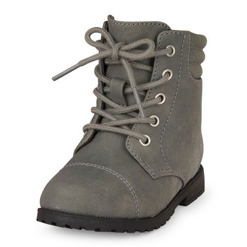 gray girls boots