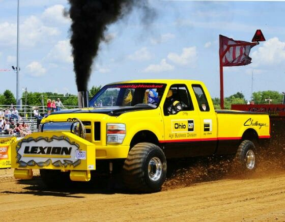 Not a powerstroke but a nice pulling rig it has a 3408 cat diesel... Ohio Cat Pulling Truck