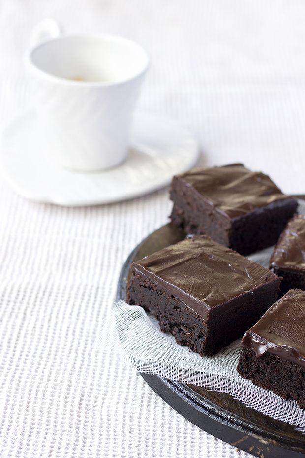 Mascarpone Brownies with Dark Chocolate Ganache