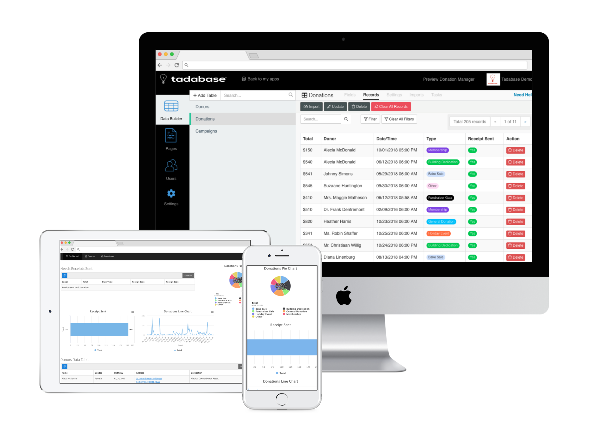 Tadabase.io Database Web App Builder Web app, Create