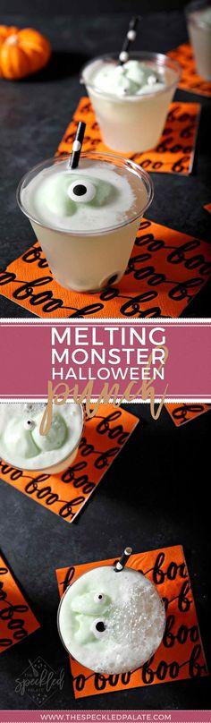 Melting Monster Halloween Punch Recipe Pinterest Halloween - halloween drink ideas for kids