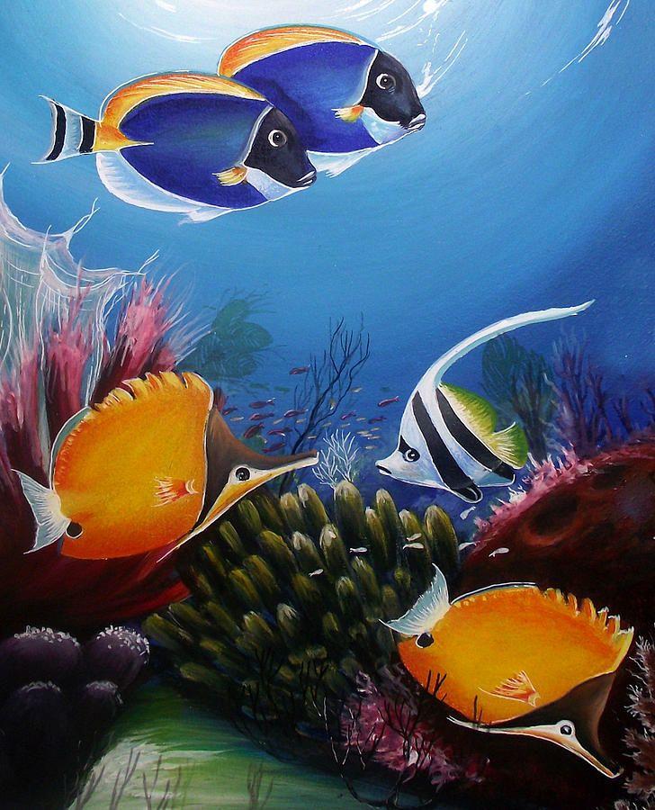 Underwater 7 Naushad Waheed Jpg 728 900 Underwater Painting