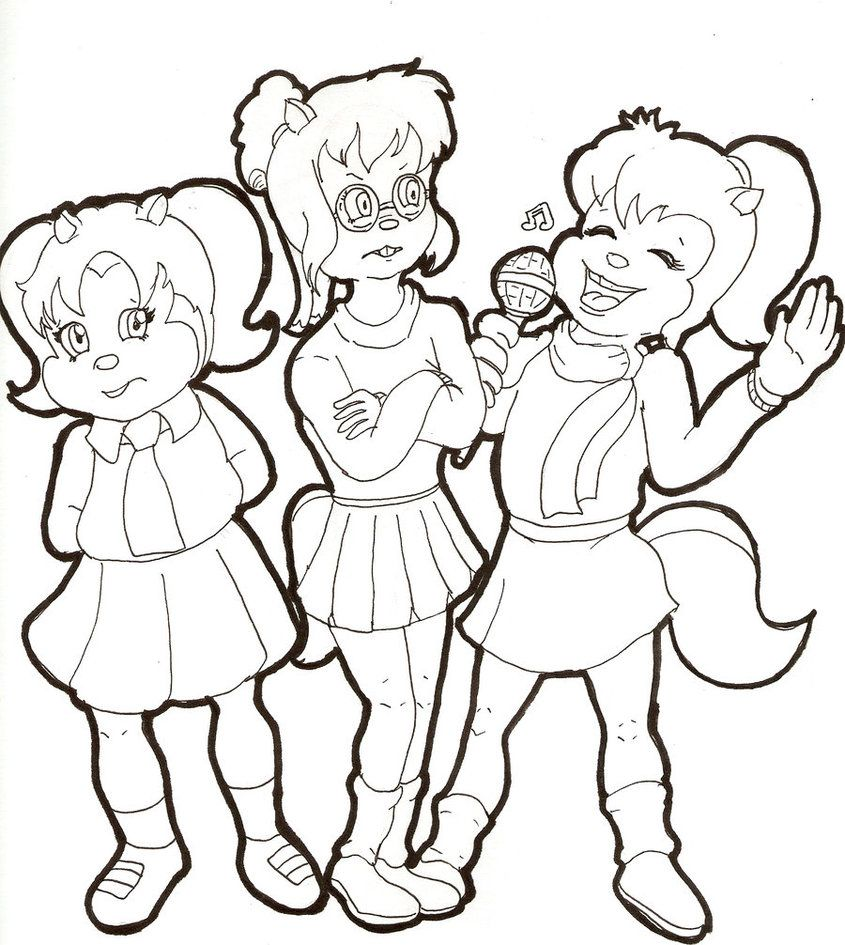 Chipettes Coloring Pages | coloring pages | Pinterest