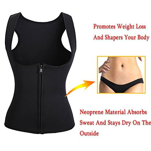 Amazon.com: Gotoly Slimming Neoprene Vest Hot Sweat Shirt Body Shapers for Smooth Muffin Top: Clothing