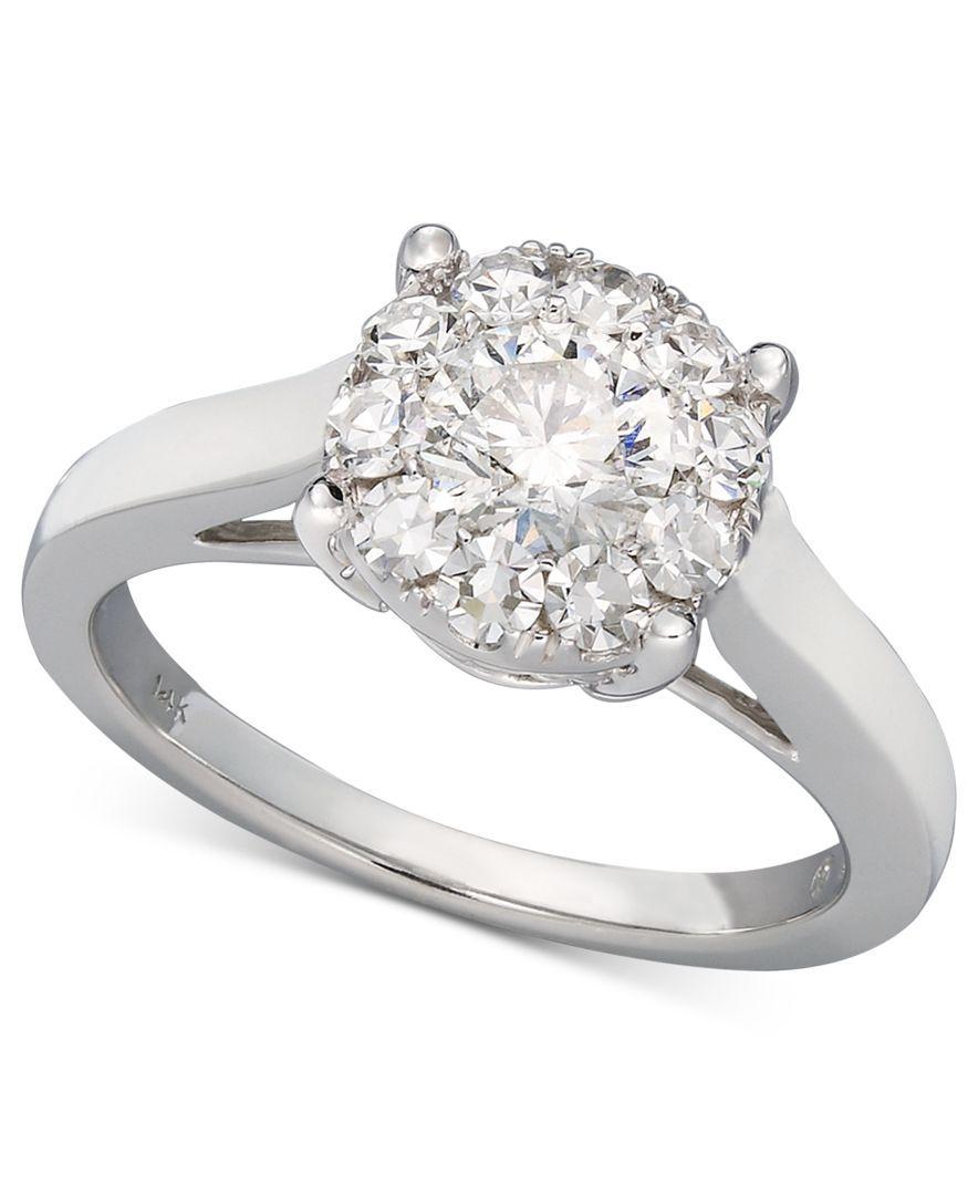 Prestige Unity Diamond Engagement Ring In 14k White Gold 1 2 Ct T W