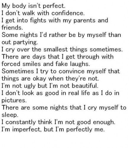Imperfection made me who I am