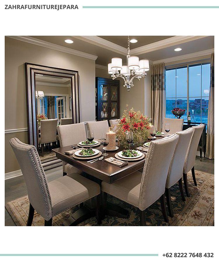 Meja Makan Klasik Minimalis Oriental 8 Kursi Elegant Dining Room