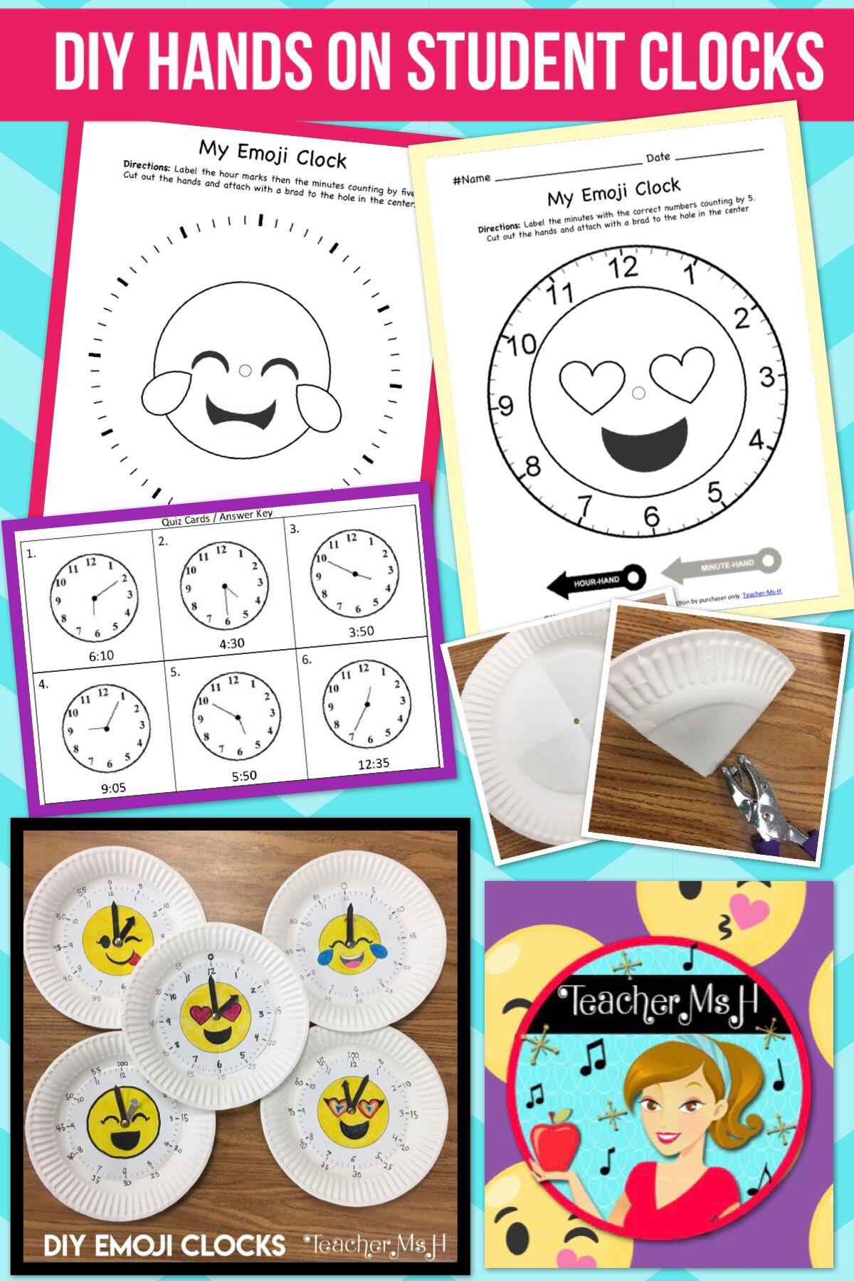Telling Time Emoji Clocks