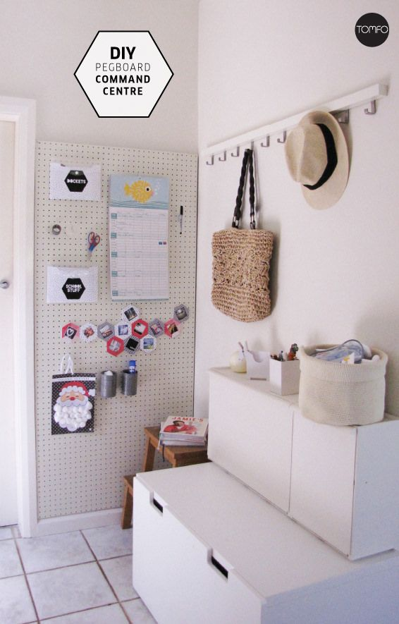 Love This Pegboard Wall Organizer For The Guest Room Wrapping Area