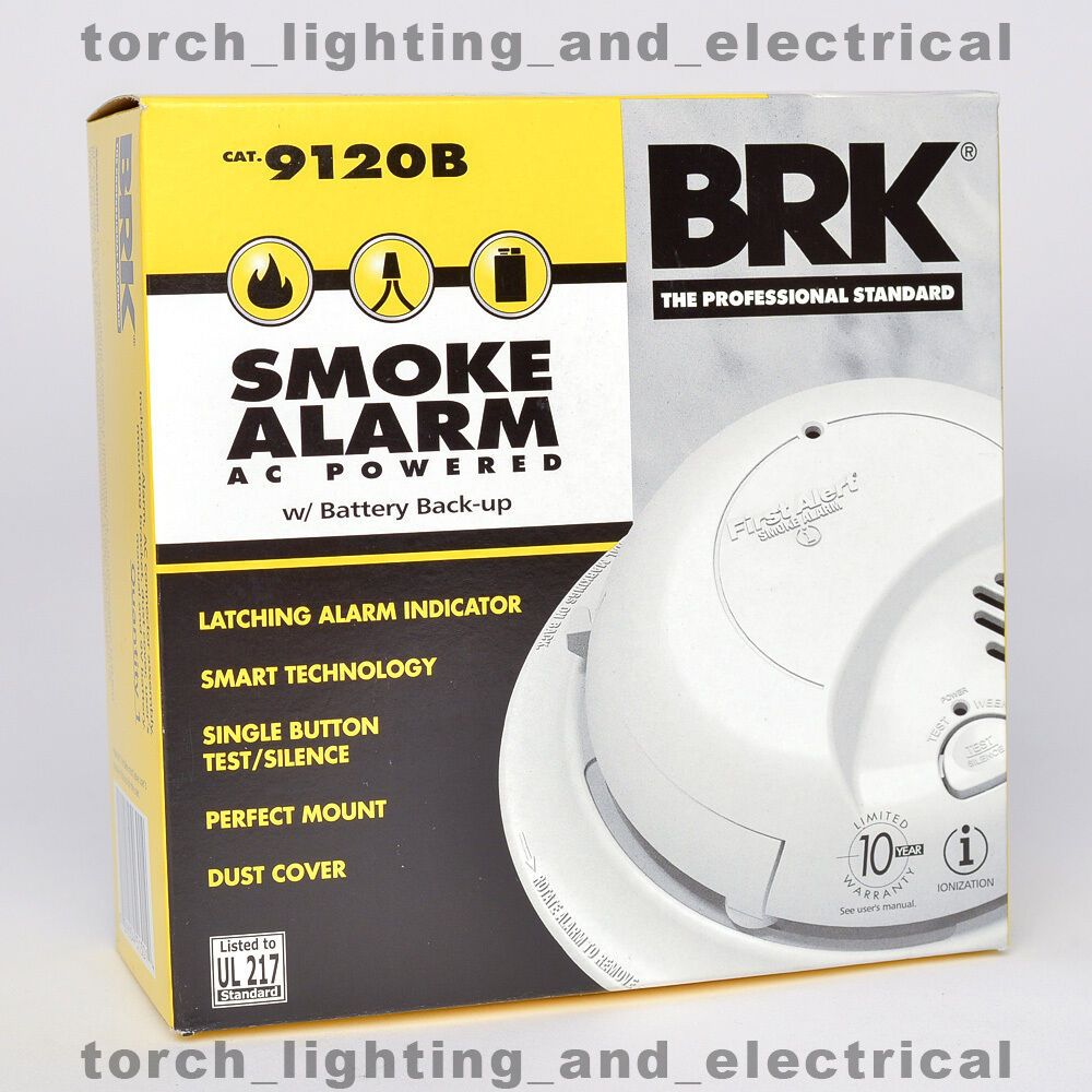 6 Pack Brk 9120b First Alert Smoke Alarm Detector Hardwired With Battery Back Up Smoke Alarm Smokealarm In 2020 Smoke Alarms Alarm Smoke Detector