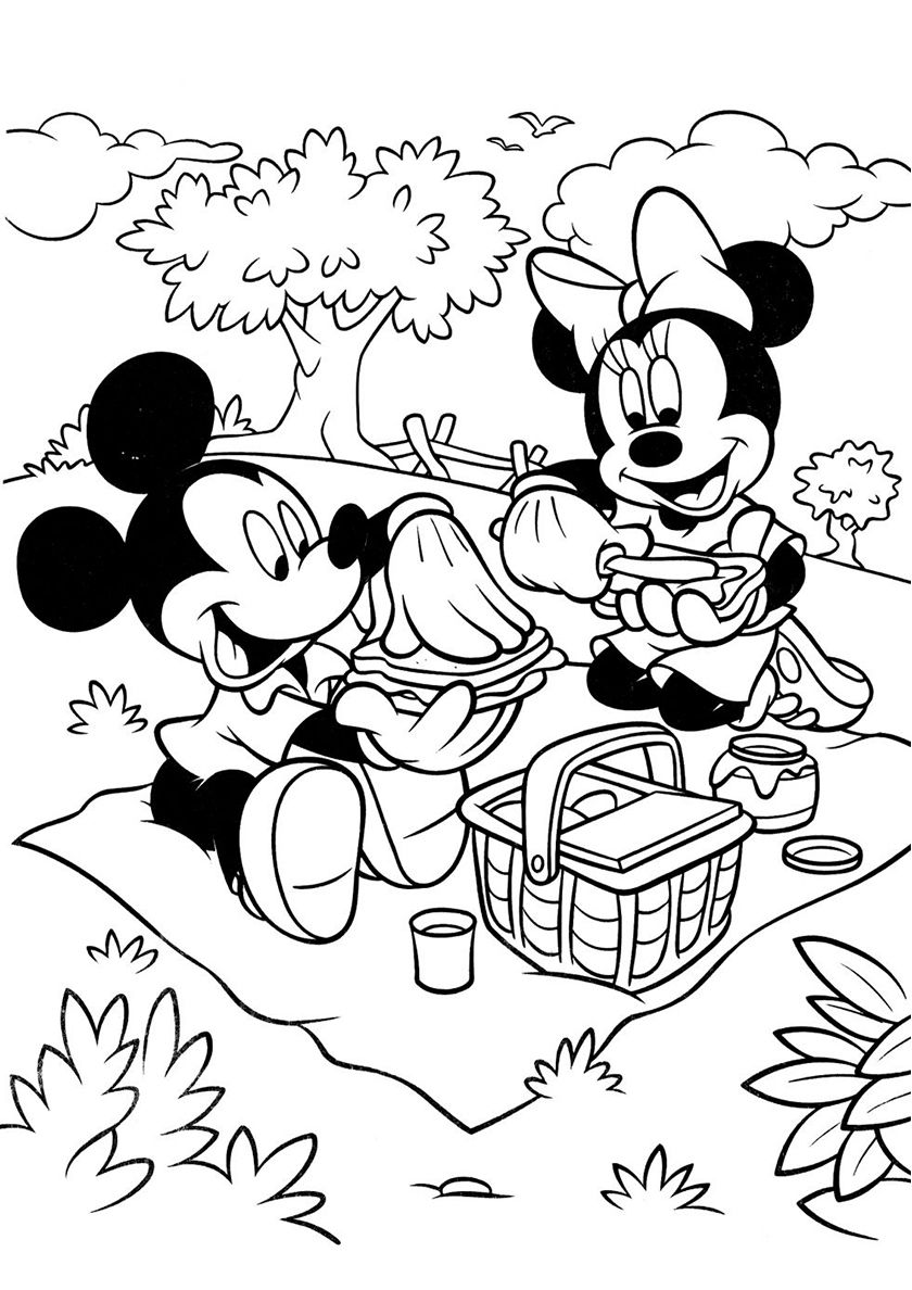 Picnic At The Edge Mickey Mouse Coloring Page Cartoon Coloring Pages Mickey Mouse Coloring Pages Mickey Mouse