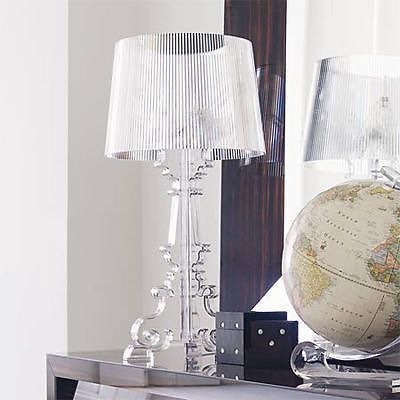 Kartell Bourgie Clear Transparent Table Lamp Light Shade Interieur Interieur Ideeen Modern Meubeldesign