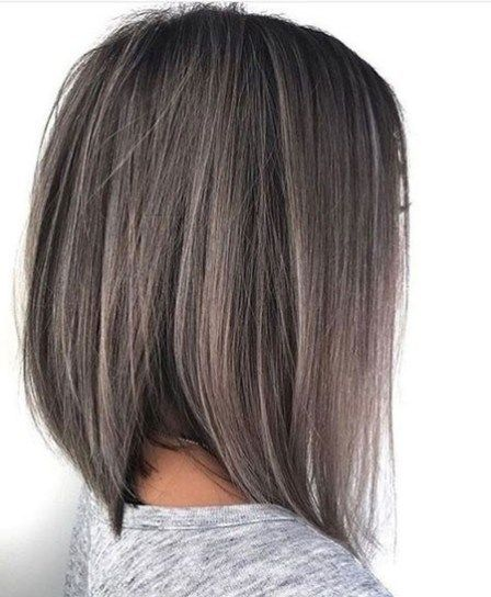 Ash Grey Straight Hair Best Short Hair Color Ideas Short Hair Color Hair Styles Thick Hair Styles