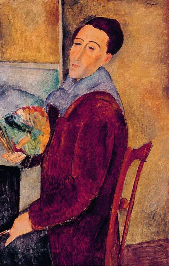 Autorretrato Modigliani Pintando Modigliani Amedeo