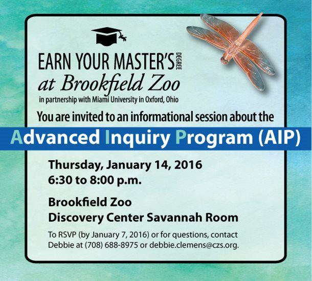 Earn Your Master's Degree at Brookfield Zoo