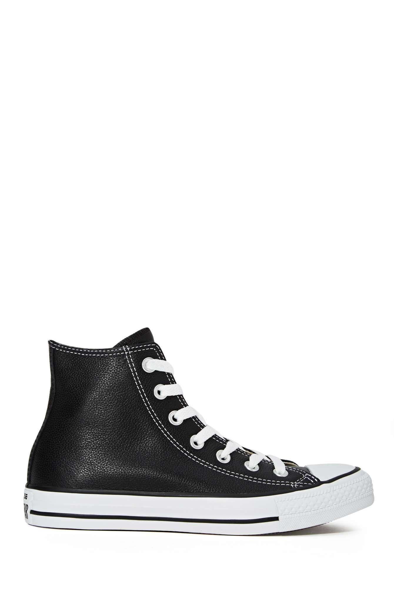 a39cde4ec5a Converse All Star High-Top Sneaker - Black Leather