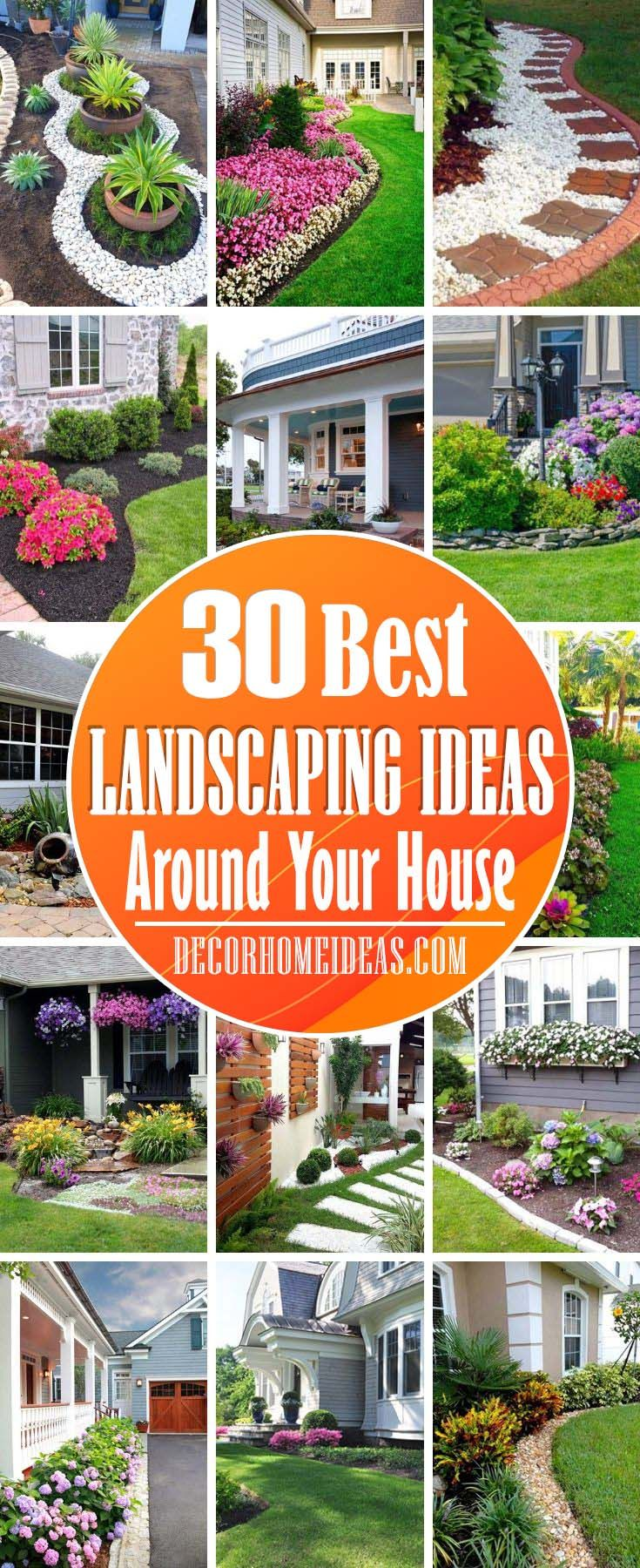 30 Best Landscaping Ideas Around Your House Decor Home Ideas Front Yard Landscaping Design Outdoor Gardens Landscaping Backyard Landscaping New house backyard ideas