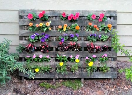 How To Make A Homemade Pallet Flower Garden