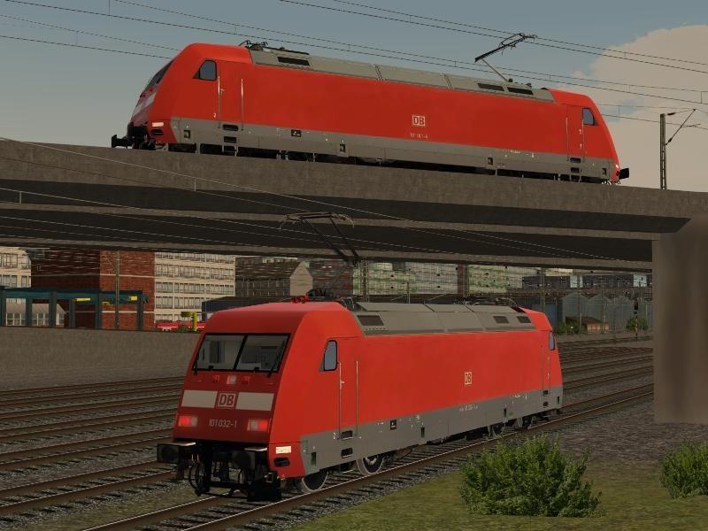 DBAG BR 101 0016 und 101 0321 in Verkehrsrot, Neulack