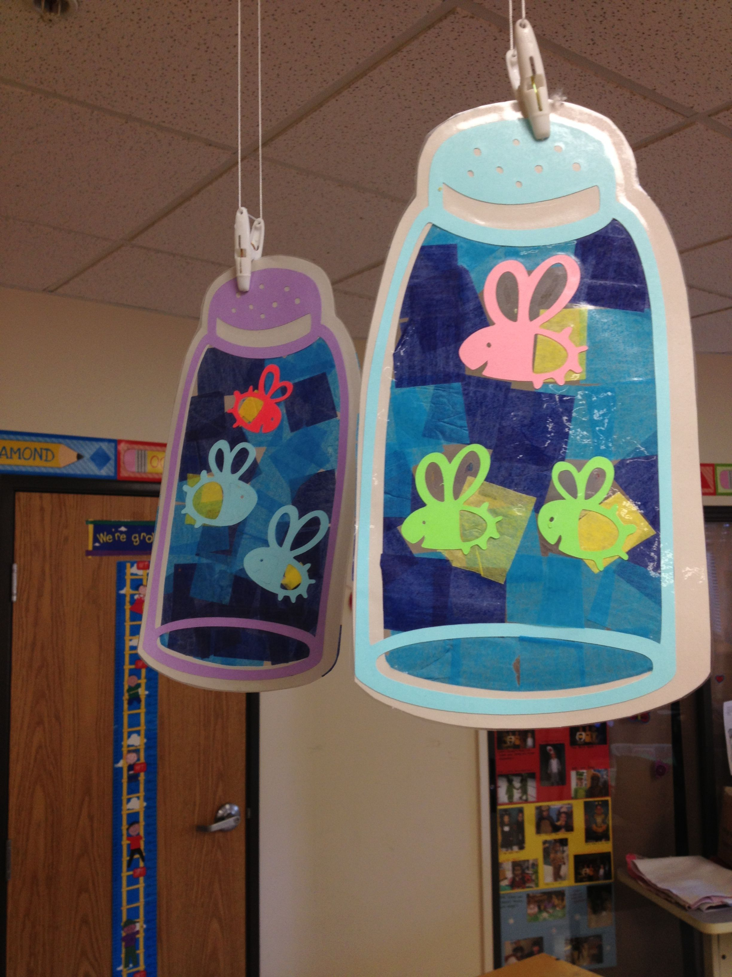 Fireflies tissue art project made with the cricut | The ...