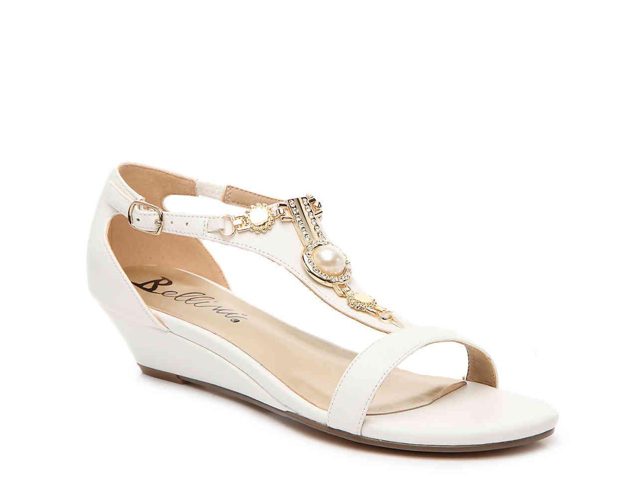 Bellini lynn wedge sandal white wedge shoes sparkle