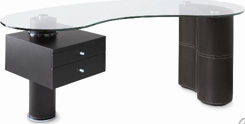 Contemporary Office Desk The Not So Corporate Version Sayeh Pezeshki La Brand Logo And Web Designer Glass Desk Office Glass Office Desk Modern Contemporary Office Desk