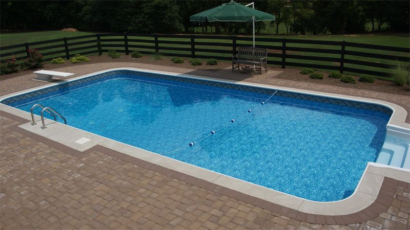 Simple Pool Ideas simple swimming pool design ideas Pool Wooden Fencing Ideas Pool Liners With Black Wooden Fence Turquoise