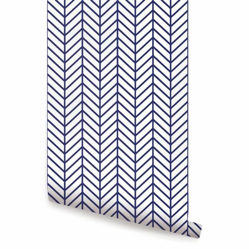 Nevaeh Herringbone Line Matte Fine Fabric Weave Peel and