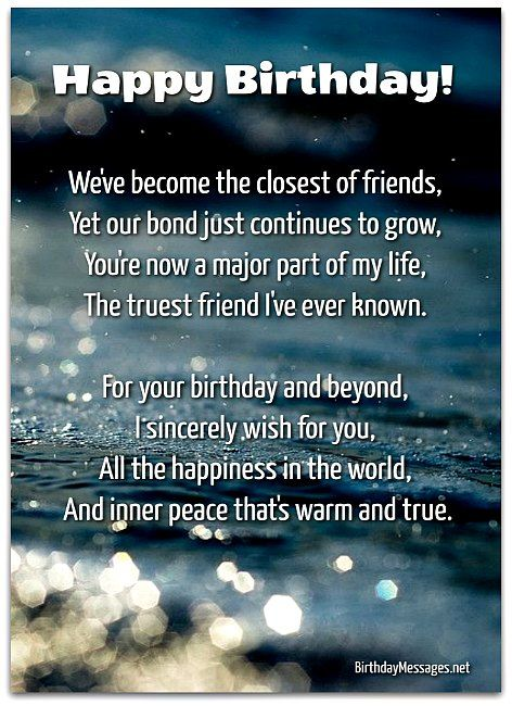 Heartfelt Birthday Wishes For Him : heartfelt, birthday, wishes, Sentimental, Birthday, Poems:, Messages, Happy, Quotes, Friends,, Wishes, Quotes,, Funny