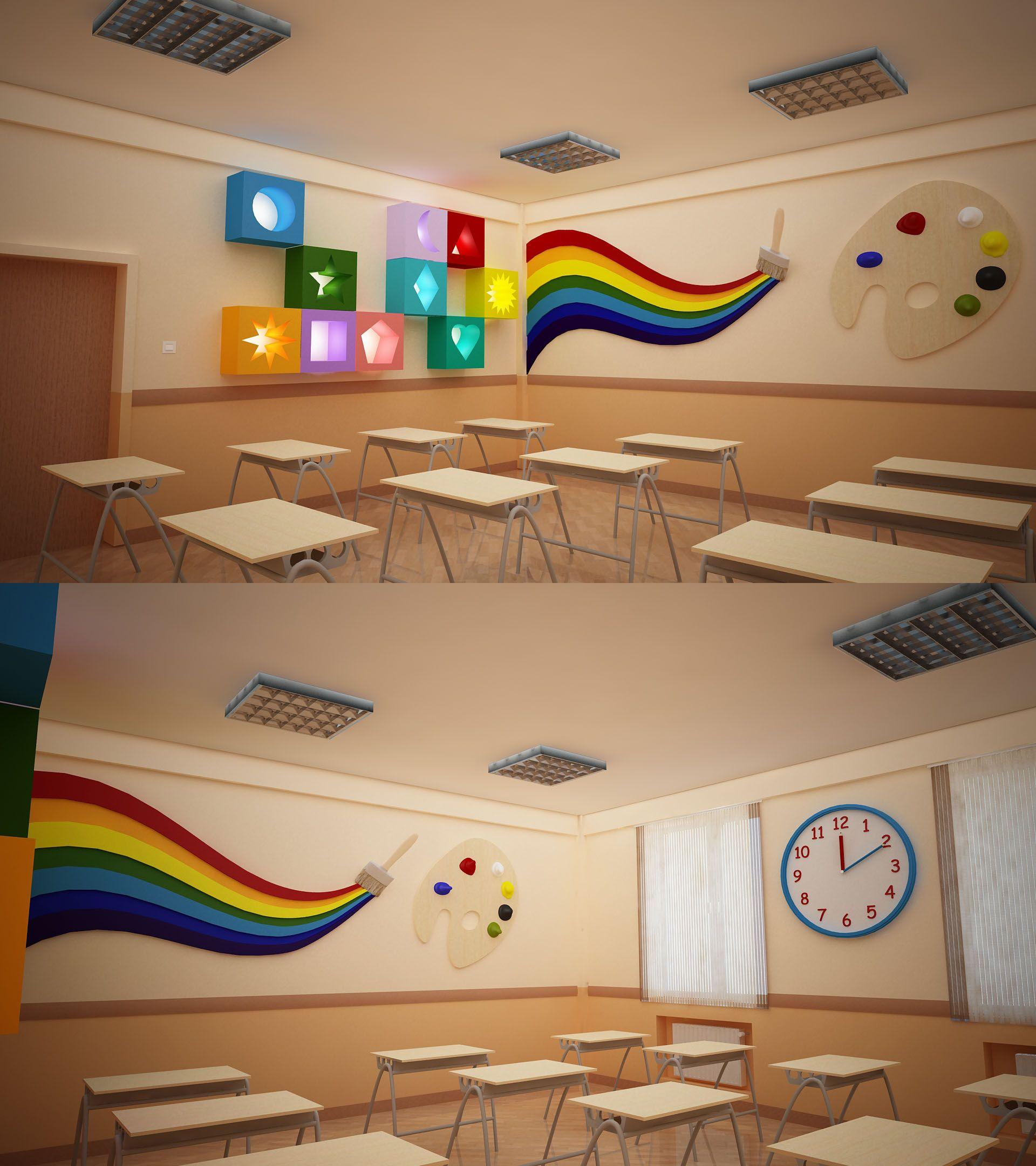 Modern Classroom Decorations : Bms baku modern school primary classroom design by
