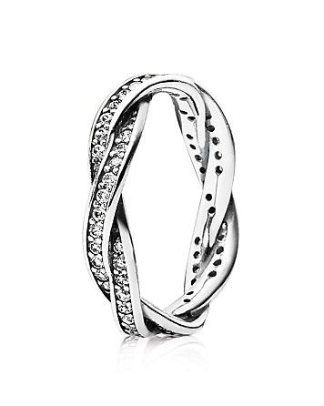 Pandora Ring Sterling Silver Cubic Zirconia Twist Of Fate