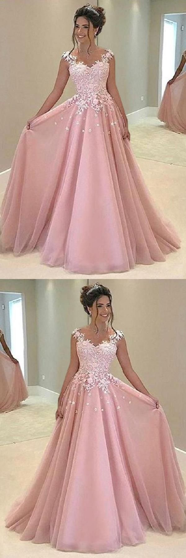 Hot sale beautiful prom dresses aline prom dresses pink prom