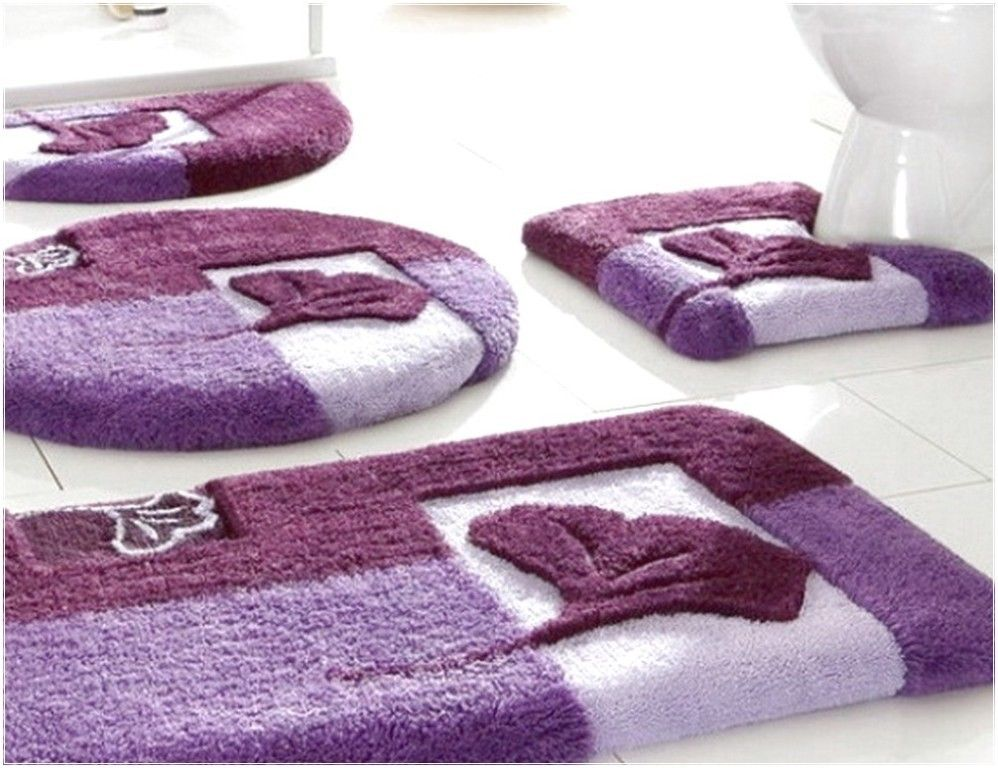 47 Fabulous Magnificent Bathroom Rug Designs 2019 Purple