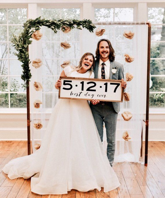 Wedding Date Gift: Wood Sign -Best Day Ever